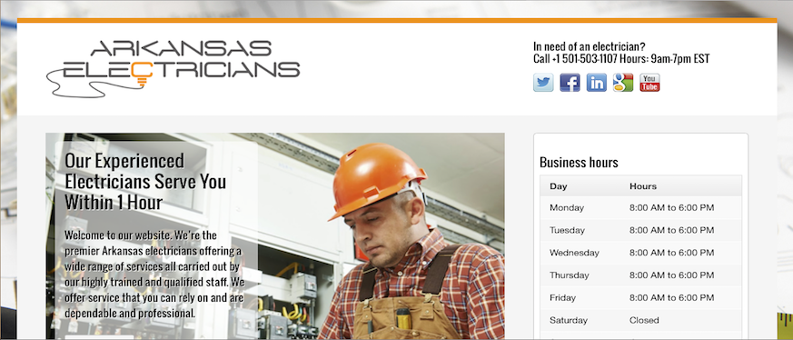 electrician-websites